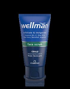 Wellman face scrub